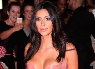 Kim Kardashian con un vestido de latex
