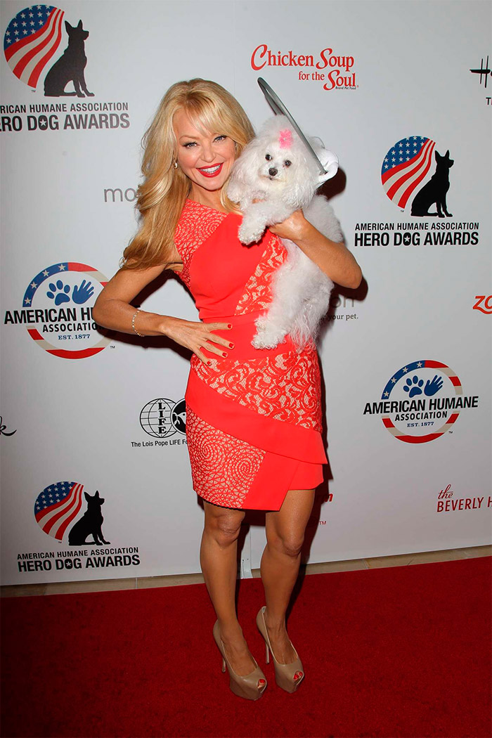 Charlotte Ross en la Hero Dog Awards