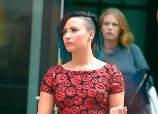Demi Lovato nos muestra su peculiar estilo