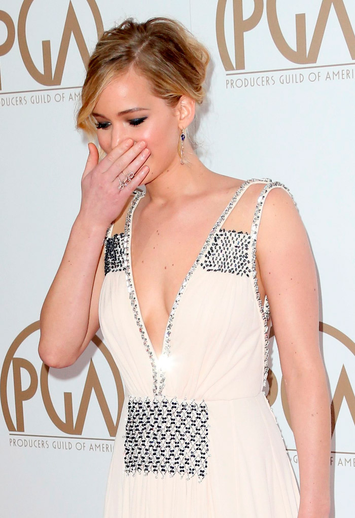 Escote Prada de Jennifer Lawrence