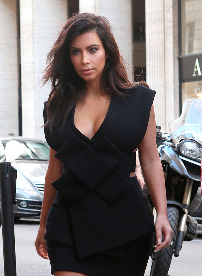 Escote de Kim Kardashian