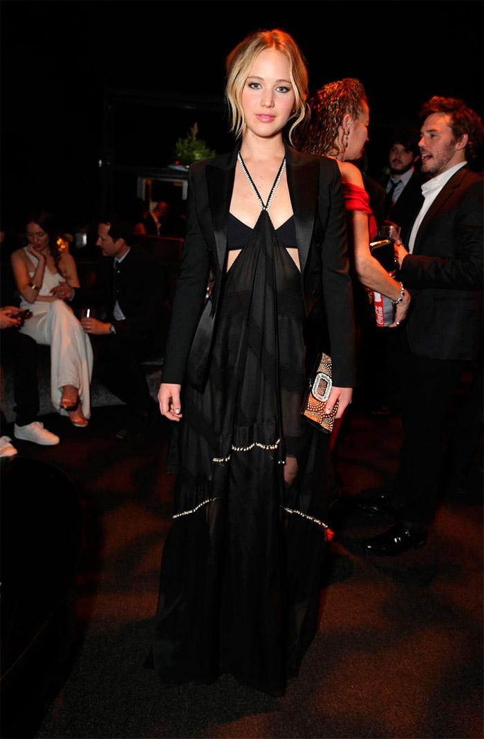 Jennifer Lawrence, vestido negro