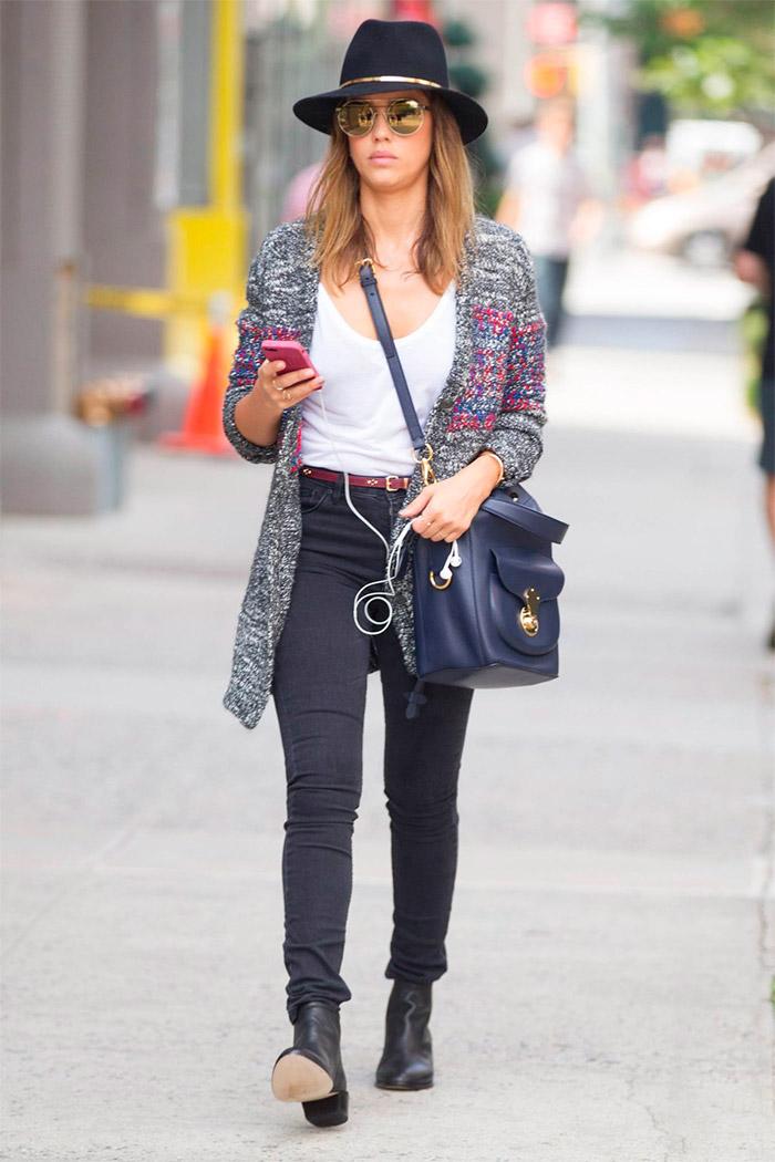 Jessica Alba por la calles de New York