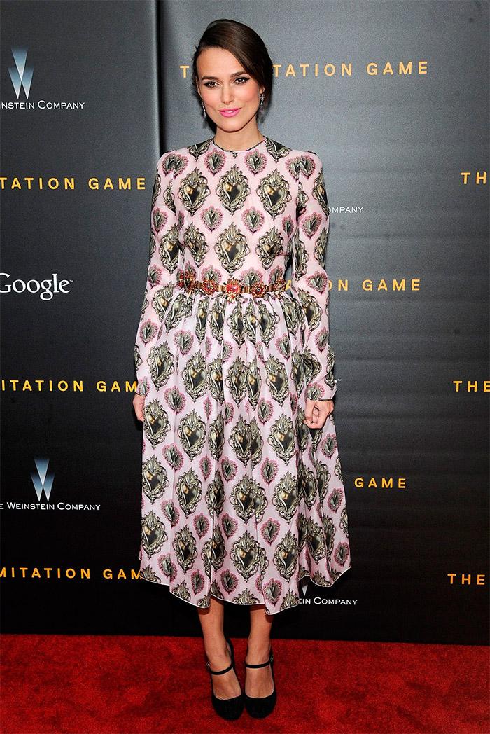 Keira Knightley en New York vestida por Dolce&Gabbana