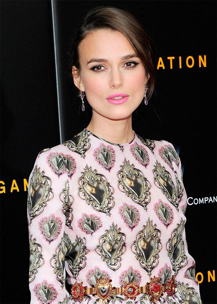 Keira Knightley vestida por Dolce&Gabbana en New York