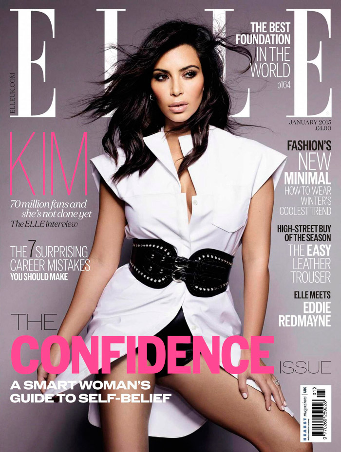 Kim Kardashian Elle Enero 2015