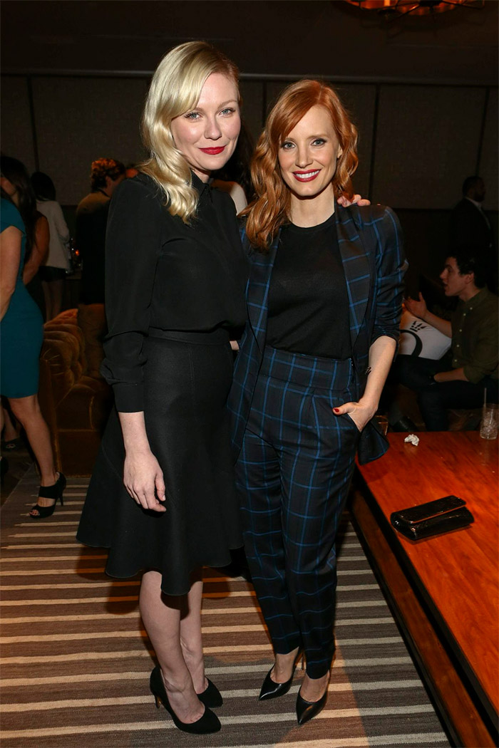 Kirsten Dunst y Jessica Chastain