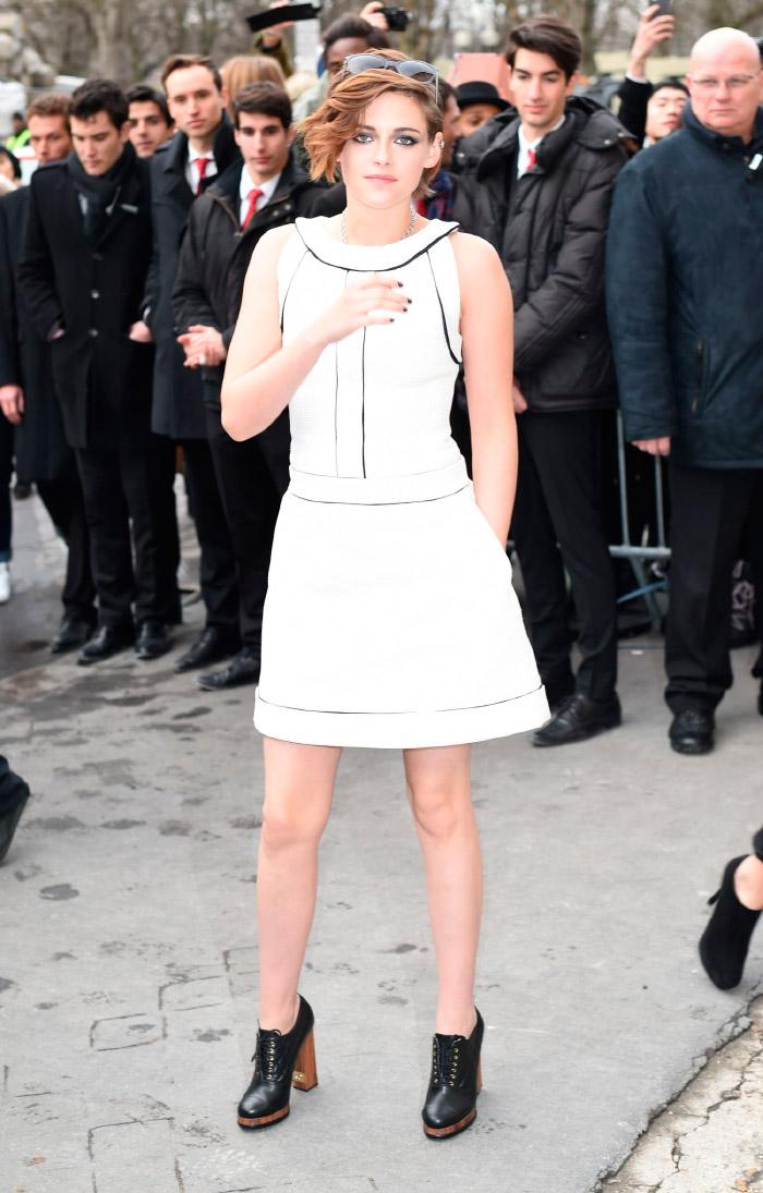 Kristen Stewart, vestida de Chanel en la semana de la moda
