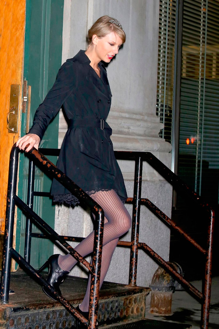 Look invernal de Taylor Swift