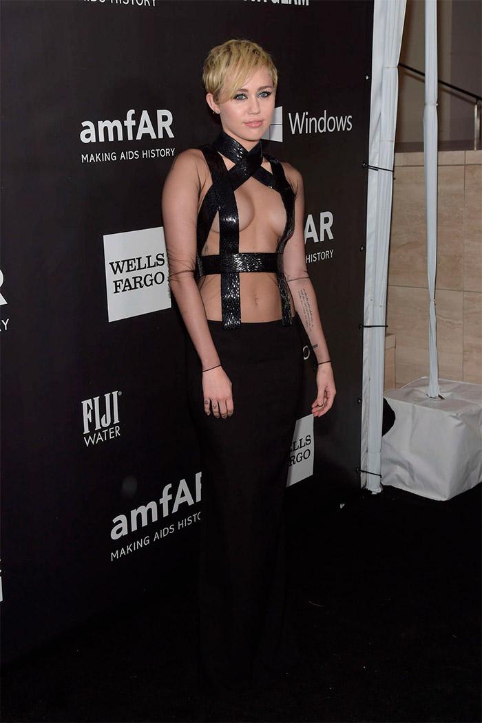 Miley Cyrus en la Gala de Inspiración amfAr