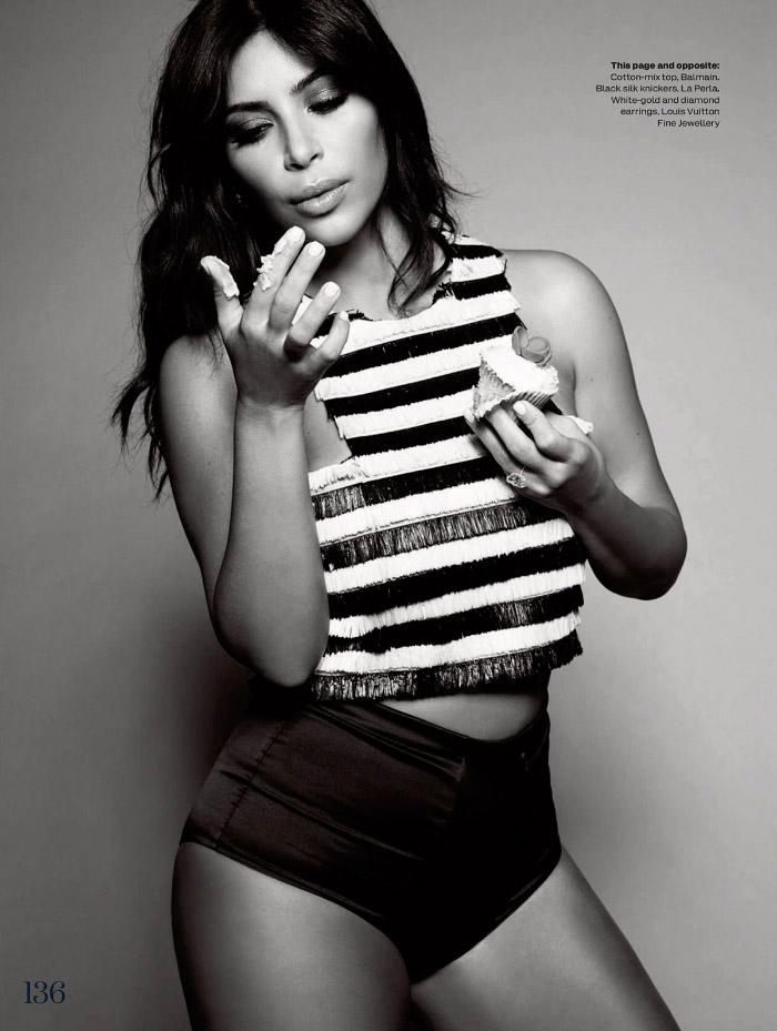 Portada Elle Enero 2015 con Kim Kardashian