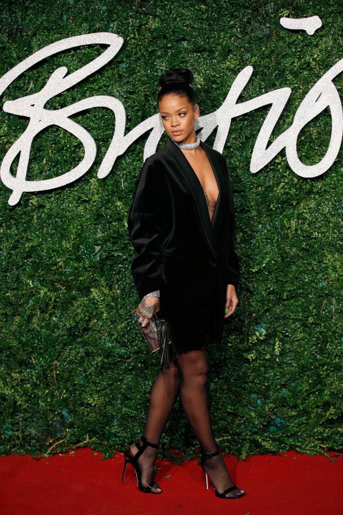 Rihanna en los British Fashion Awards 2014