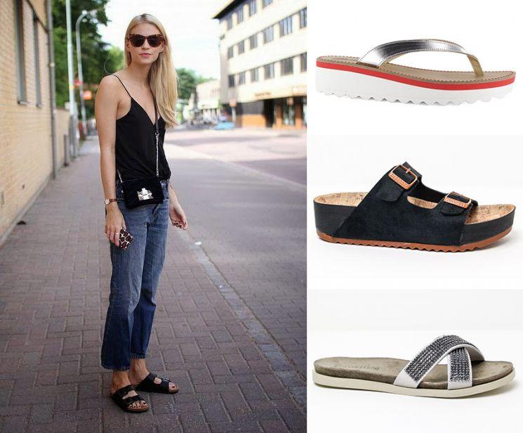 Sandalias de diseño minimalista