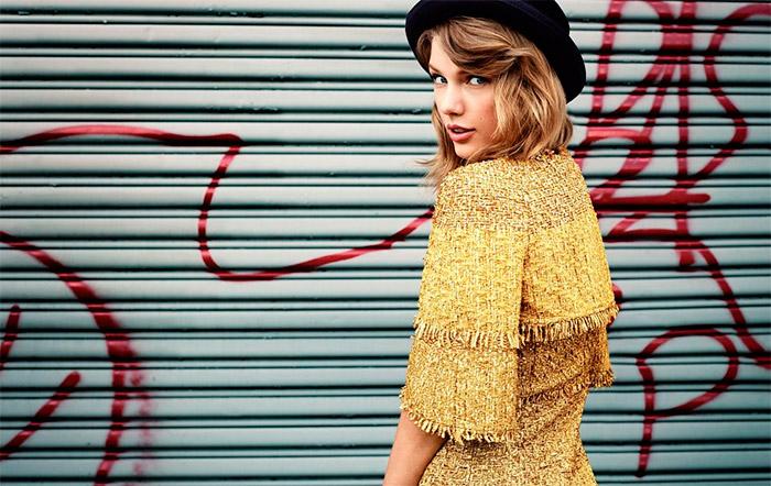 Taylor Swift en la portada de Lucky Magazine