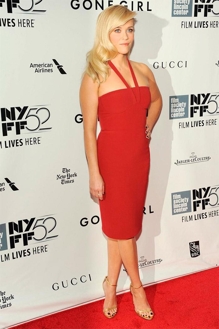 Vestido rojo de Reese Witherspoon