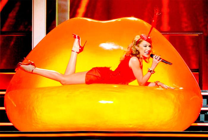 Vestido sexy de Kylie Minogue