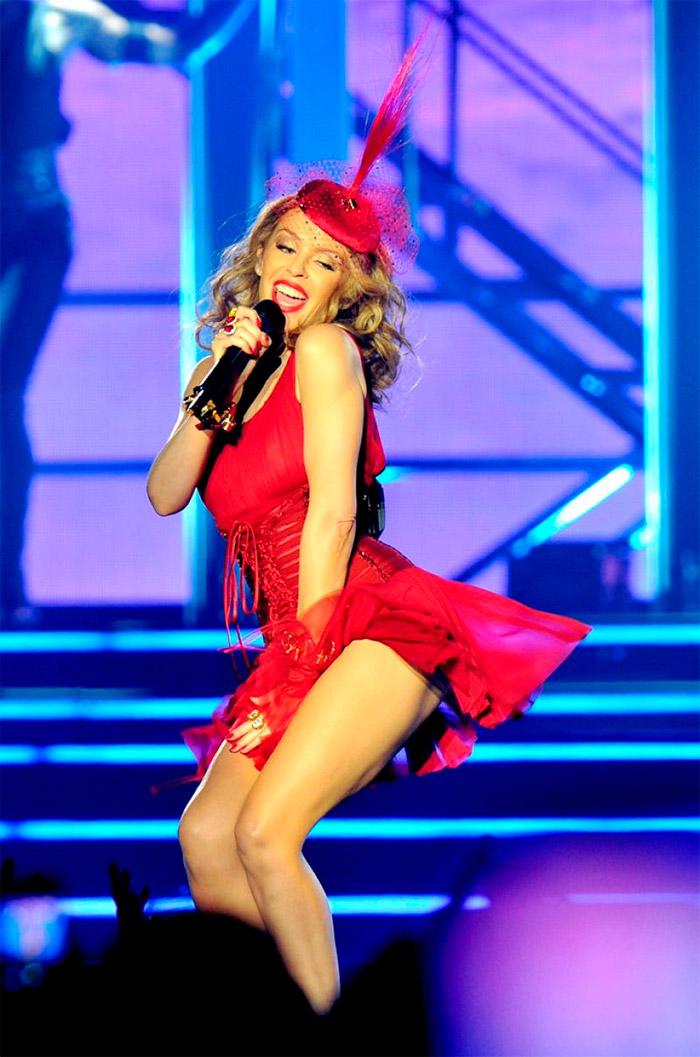 Vestido sexy pin-up de Kylie Minogue